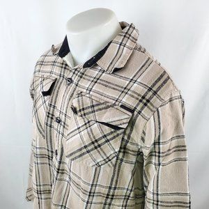 Billabong Sherpa Lined Flannel Shirt Jacket Plaid